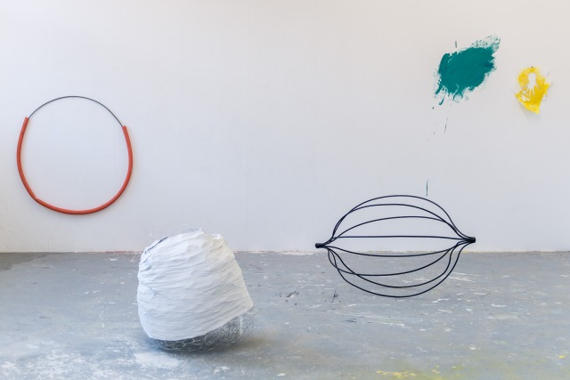 Andrew Glenn. Studio work in progress. 2014 MFA studio.
