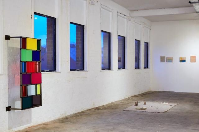 Installation View. Transmit. MFA Interim show. Platform Arts. 2017