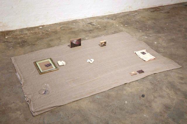 Hannah McBride. Installation View. Transmit. MFA Interim show. Platform Arts. 2017