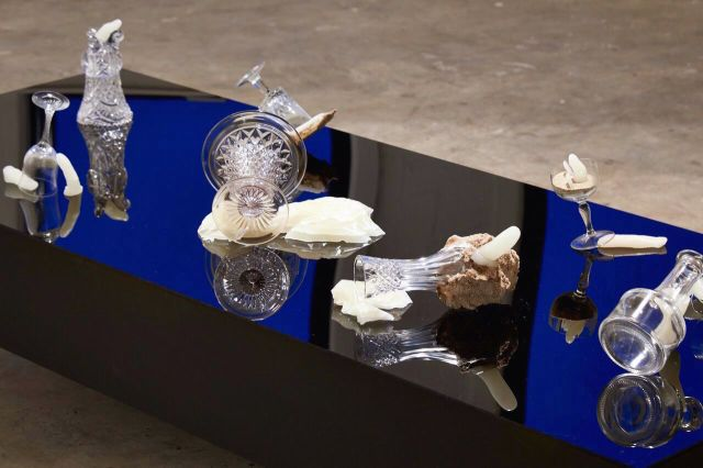 Matthew Bourree. Installation detail. Transmit. MFA Interim show. Platform Arts. 2017