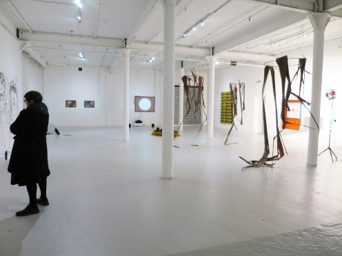 """Installation view. """"7-Day Itch"""". MFA 2nd year Interim show at Catalyst Arts, 2019."""